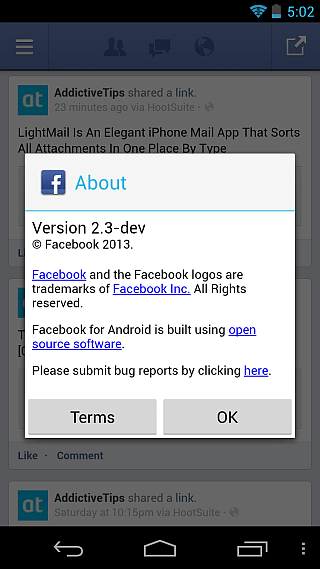 Facebook Home About
