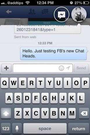 Facebook iOS Chat Head