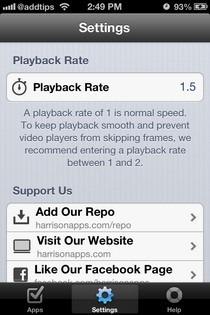 FastForward iOS Settings