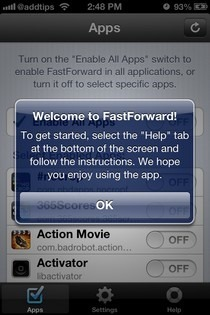 FastForward iOS Welcome