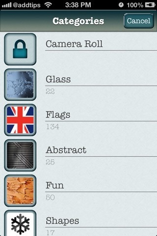 Glass Booth iOS Categories
