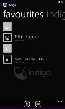 Indigo WP8 Favorites