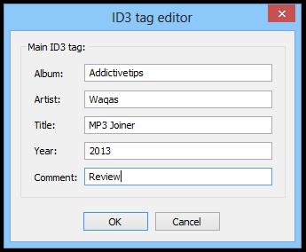 Meda MP3 Joiner_ID3 tag editor