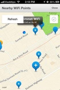 OpenSignal iOS Nearby WiFi