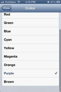 Prime iOS Colors