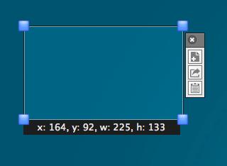 Screenink rectagnle capture