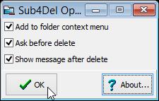 Sub4Del options