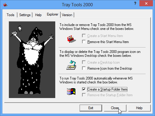 Tray Tools' Explorer Tab