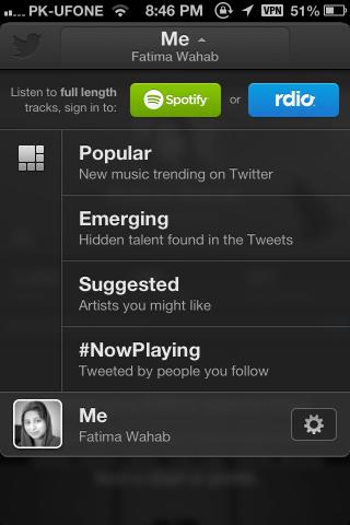 Twitter #music add account