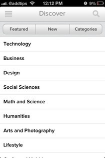Udemy iOS Browse