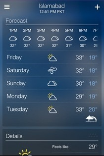 Yahoo! Weather iOS Forecast