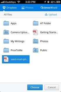 mosaic.io iOS Dropbox