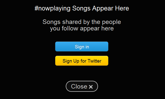 sign in twitter music