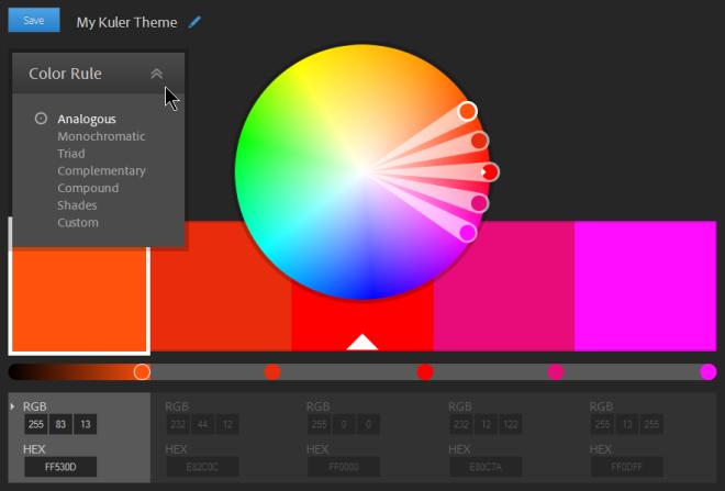 Adobe Kuler web