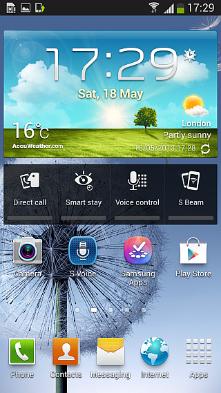 Android 4.2.2 ROM for Galaxy S III - Home Screen
