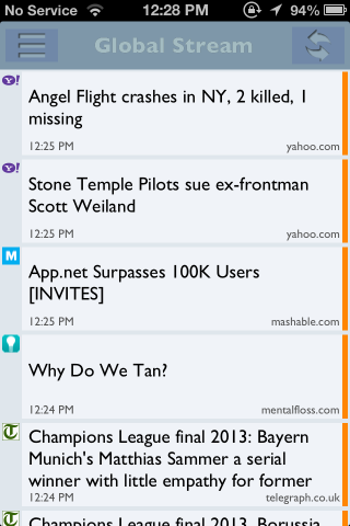 App.news global stream