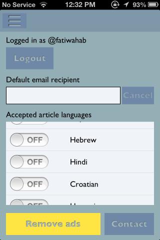 App.news settings