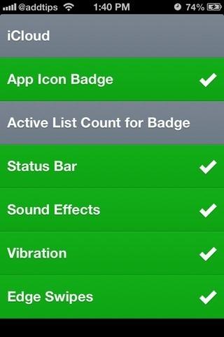 Clear iOS Settings