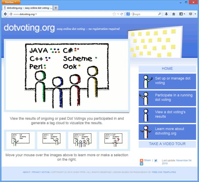 Dotvoting website