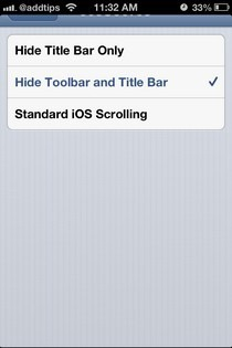 FullScroll iOS Options