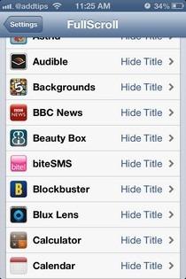 FullScroll iOS Settings