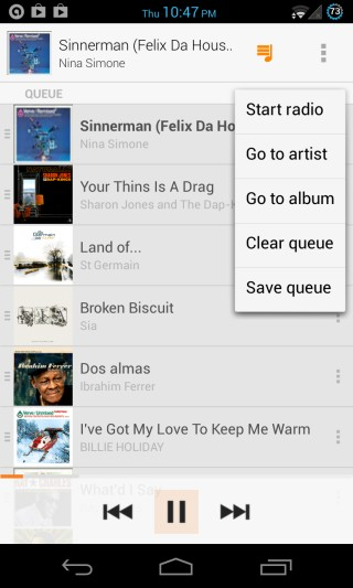 Google Play Music All Access for Android - Radio