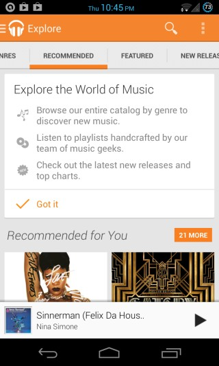 Google Play Music All Access for Android