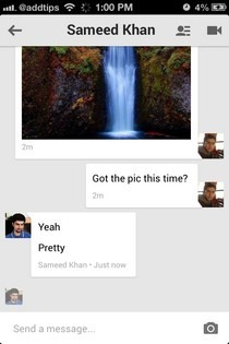 Hangouts iOS Chat