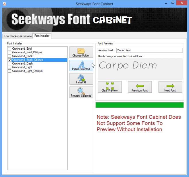 Installing fonts