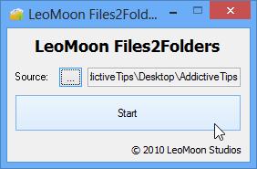 LeoMoon-Files2Folders-user-interface.png