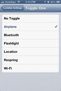 LockBar Settings iOS Options
