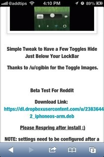 LockBar Settings iOS Site