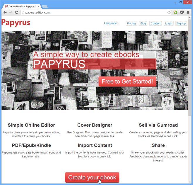 Papyrus-main-webpage