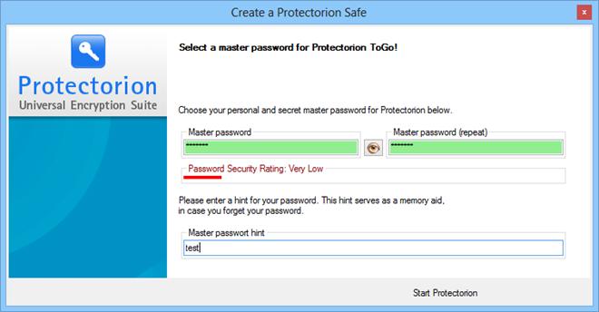 Protectorion ToGo_Password