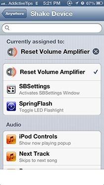 Reset-Volume-Amplifier-to-100%-Activator Gesture