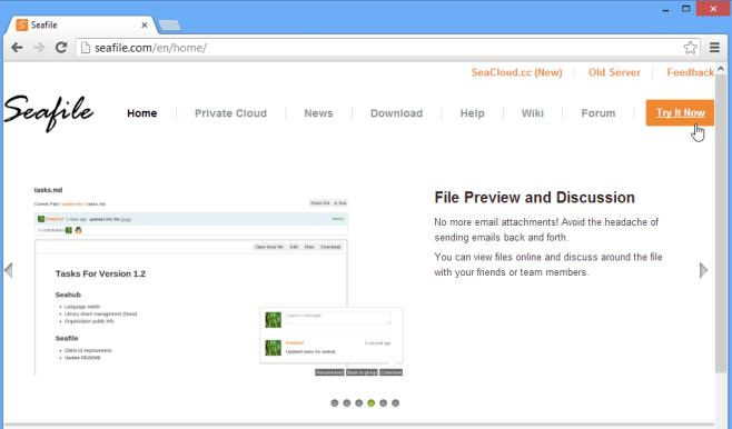 Seafile website