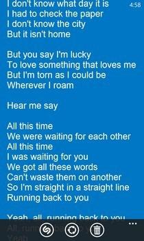 Shazam WP8 Lyrics