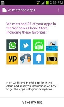 Switch to Windows Phone Android Apps