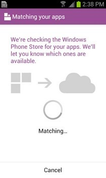 Switch to Windows Phone Android Check