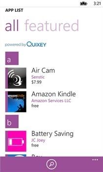 Switch to Windows Phone WP List