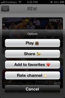 Universal TV Cydia Options
