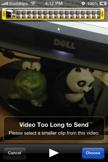 Unlimited Media Send iOS Too Long