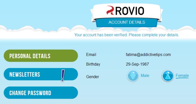 rovio verify