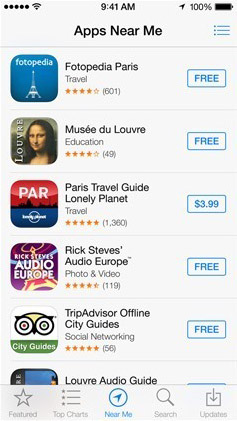 Apps Near Me iOS 7