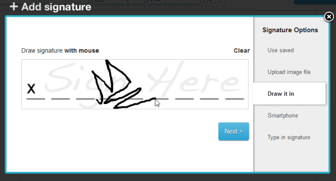 Drawing in my signature