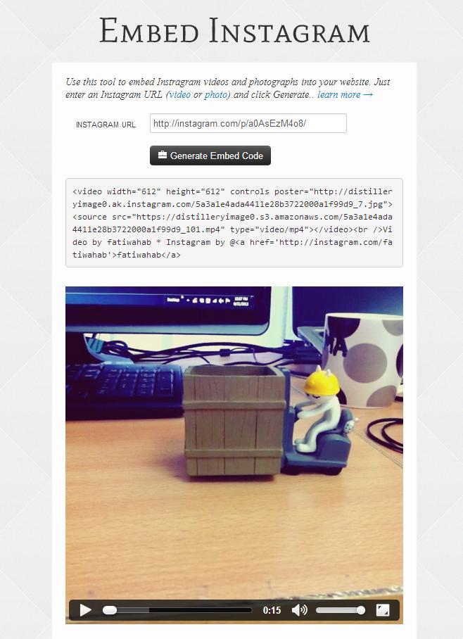 Embed Instagram code