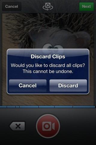 Instagram Video Discard
