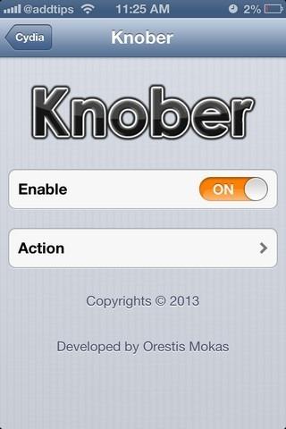 Knober iOS Settings