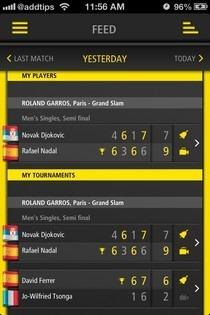 Live Score Tennis iOS Feed