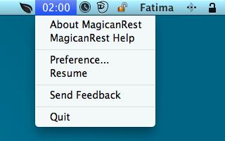 MagicanRest menu
